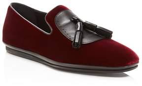 Salvatore Ferragamo Finnegan Velvet Tassel Dress Shoes