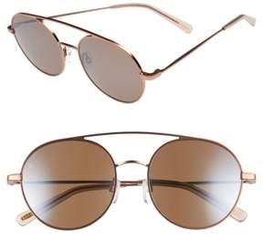 Raen Women's Scripps 55Mm Round Sunglasses - Rose Gold/ Flesh