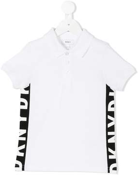 DKNY logo print polo shirt