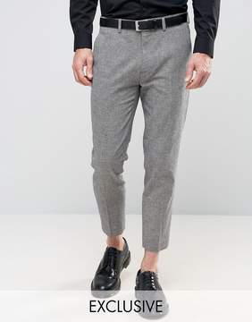 ONLY & SONS Skinny Wedding Cropped Suit Pants In Dogstooth
