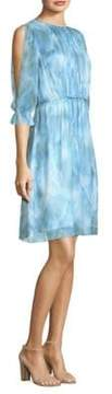 Elie Tahari Luciana Silk A-Line Dress