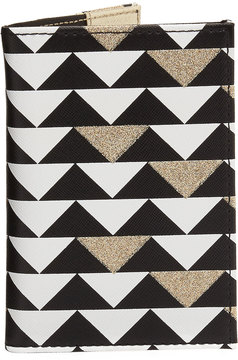 Neiman Marcus Triangle-Print Passport Case, Multi