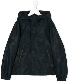 Woolrich Kids printed hooded jacket
