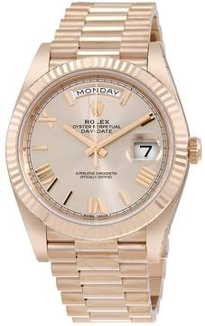 Rolex Day-Date 40 Sundust Dial 18K Everose Gold President Automatic Men's Watch