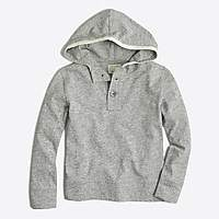 J.Crew Factory Boys' heathered henley hoodie