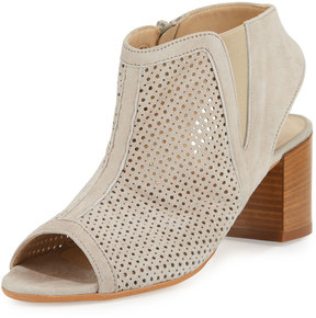 Amalfi by Rangoni Lerici Perforated Suede Sandal, Polvere
