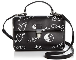 Love Moschino Graffiti Leather Satchel