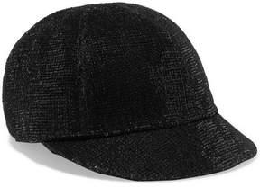 Maison Michel Warren Sequined Velvet Cap - Black