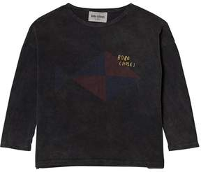 Bobo Choses Dark Grey Fish T-Shirt