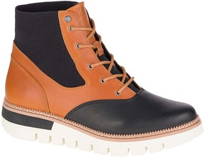 CAT Footwear Black & Tan Knockout Leather Ankle Boot