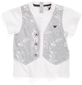 Armani Junior Infant Boy's Faux Vest T-Shirt