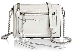 Rebecca Minkoff Avery Leather Crossbody - OPTIC WHITE/SILVER - STYLE