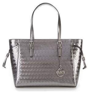 Michael Kors Voyager Metallic Top-Zip Tote - Metalic Grey - 30H7SV6T2K-041 - ONE COLOR - STYLE