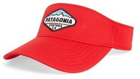 Patagonia Men's 'Fitz Roy Crest' Visor - Red