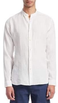 Loro Piana Mandarin Collar Button-Down