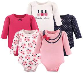 Hudson Baby Bow Necklace Long-Sleeve Bodysuit - Set of Five