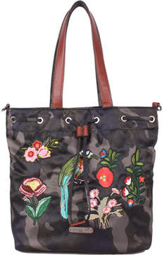 Nicole Lee Krissy Camouflage Embroidery Bucket Bag (Women's)