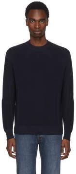 Brioni Navy Oversized Crewneck Sweater