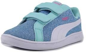 Puma Smash Glitz Glamm V PS Youth US 3 Blue Fashion Sneakers