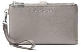 MICHAEL Michael Kors Double-Zip Leather Wristlet