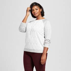 Ava & Viv Women's Plus Size Pullover with Lace Detail Gray
