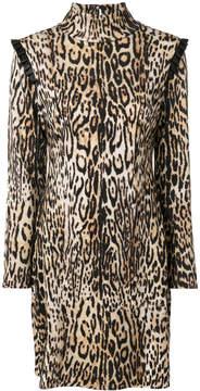 Blumarine high neck mini dress