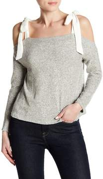 Dee Elly Cold-Shoulder Bow Sweater