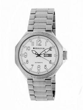 Heritor Spartacus Mens Silver Tone Bracelet Watch-Herhr5401