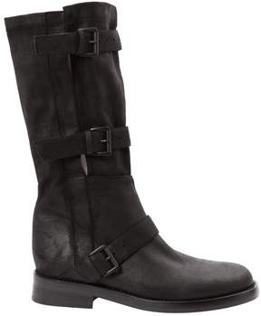 Ann Demeulemeester Leather western boots