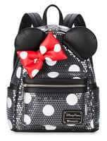 Disney Minnie Mouse Sequined Mini Backpack by Loungefly