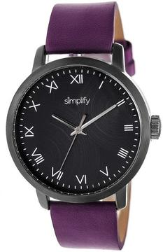 Simplify The 4200 Collection SIM4207 Black Stainless Steel Analog Watch
