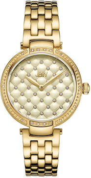 JBW 18 Diamonds At .18ctw Womens Gold Tone Bracelet Watch-J6356e