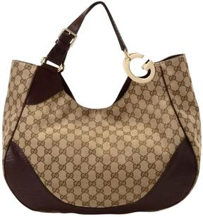 Gucci GG Suprême cloth handbag - BROWN - STYLE