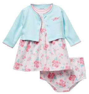 Little Me Roses Dress with Cardigan (Baby Girls)