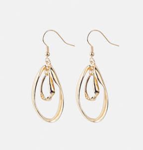 Avenue Twisted Oval Drop Earrings