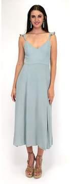 Ark & Co Sage Style Advice Ruffle Strap Dress
