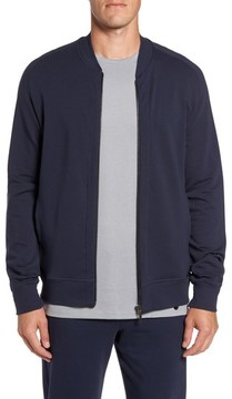 Hanro Men's Living Zip Bomber Jacket
