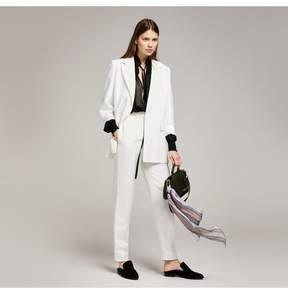 Amanda Wakeley   Soft White Linen Viscose Jacket   L   White