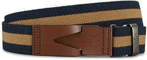 Tod's Men's Beige/blue Fabric Belt.