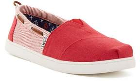 Toms Red Burlap Stripe Bimini Slip-On Shoe (Little Kid & Big Kid)