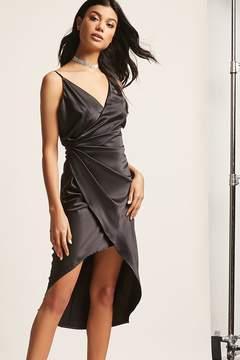 Forever 21 Satin Cami Tulip Dress