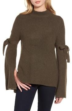 Chelsea28 Women's Tie Bell Sleeve Sweater