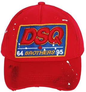 DSQUARED2 Dsq Patch Cotton Canvas Baseball Hat