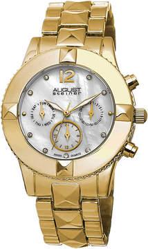 August Steiner Womens Gold Tone Strap Watch-As-8107yg
