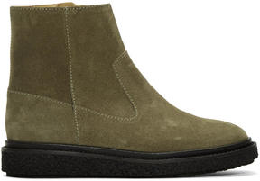 Isabel Marant Taupe Suede Connor Creeper Boots
