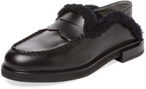 Fendi Men's Loafer with Lamb Fur