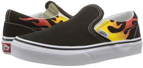 Vans Kids Classic Slip-On Black/Black/True White) Boys Shoes