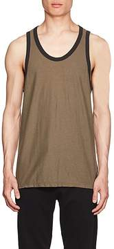 James Perse MEN'S COTTON-LINEN RINGER TANK
