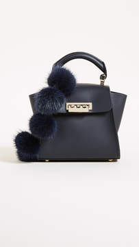 Zac Posen Fur Pom Eartha Mini Top Handle