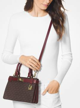 MICHAEL Michael Kors Tatiana Mini Logo and Leather Satchel